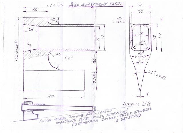 Колун для дров чертежи ручной своими руками